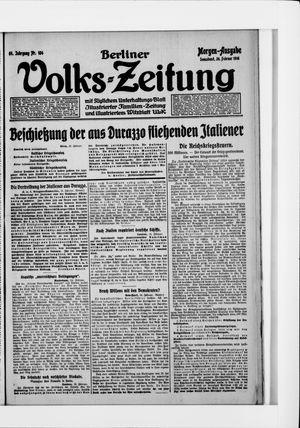 Berliner Volkszeitung vom 26.02.1916