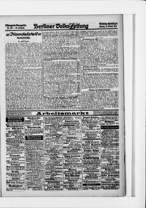 Berliner Volkszeitung vom 27.02.1916