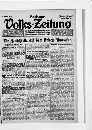 Berliner Volkszeitung vom 09.03.1916