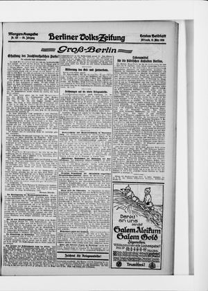 Berliner Volkszeitung vom 15.03.1916