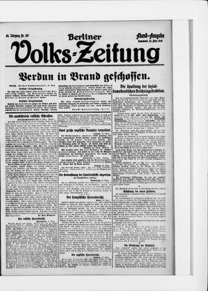 Berliner Volkszeitung on Mar 25, 1916