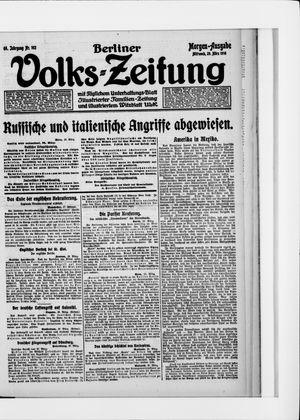 Berliner Volkszeitung vom 29.03.1916