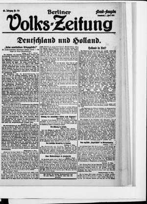 Berliner Volkszeitung vom 01.04.1916