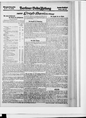 Berliner Volkszeitung vom 02.04.1916