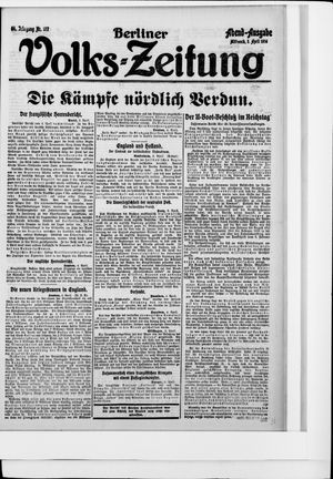 Berliner Volkszeitung vom 05.04.1916