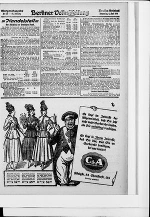 Berliner Volkszeitung vom 06.04.1916