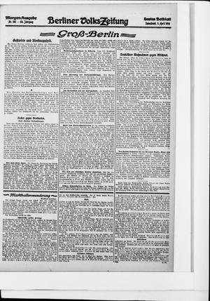 Berliner Volkszeitung vom 08.04.1916