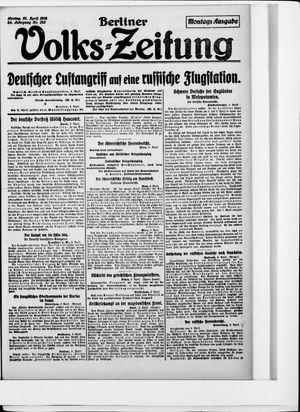 Berliner Volkszeitung vom 10.04.1916