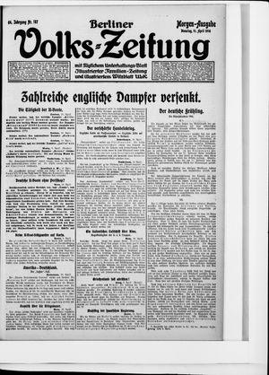 Berliner Volkszeitung vom 11.04.1916
