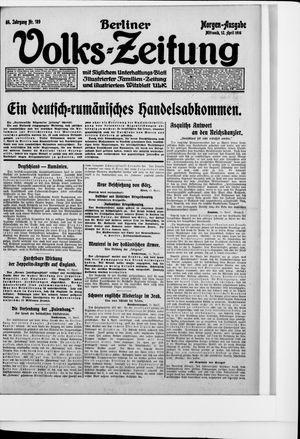 Berliner Volkszeitung vom 12.04.1916