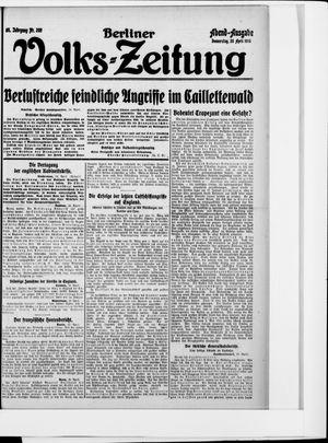 Berliner Volkszeitung vom 20.04.1916