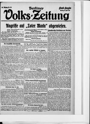 Berliner Volkszeitung vom 25.04.1916