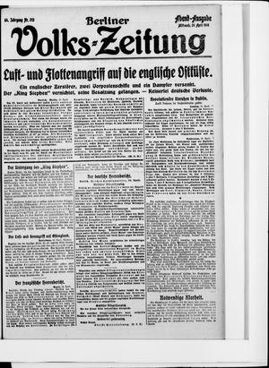 Berliner Volkszeitung vom 26.04.1916