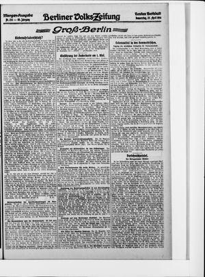 Berliner Volkszeitung vom 27.04.1916