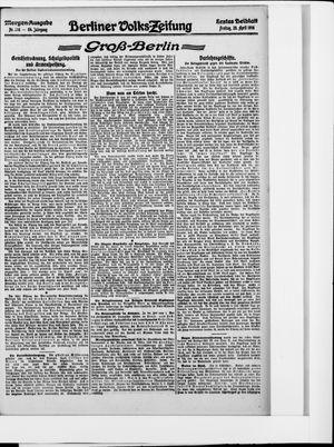 Berliner Volkszeitung vom 28.04.1916
