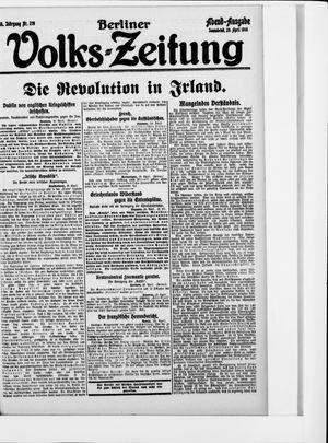 Berliner Volkszeitung on Apr 29, 1916