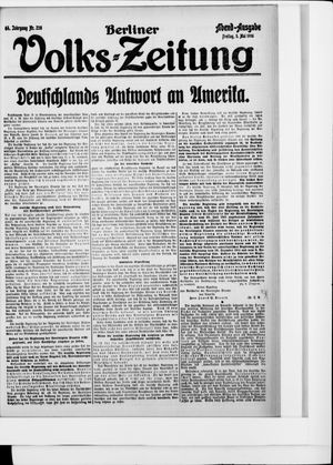 Berliner Volkszeitung vom 05.05.1916