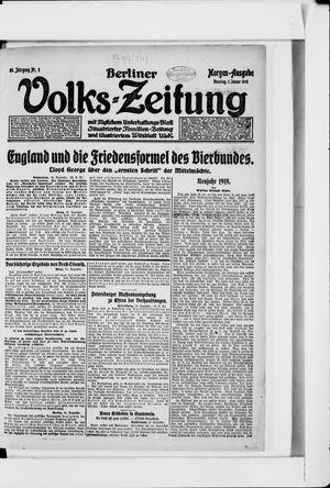 Berliner Volkszeitung vom 01.01.1918