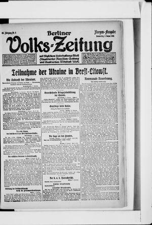 Berliner Volkszeitung vom 03.01.1918