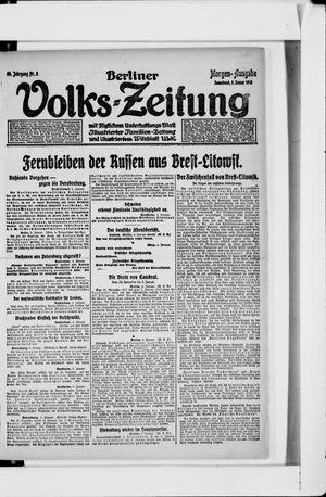 Berliner Volkszeitung vom 05.01.1918