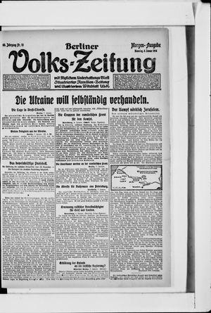 Berliner Volkszeitung vom 08.01.1918