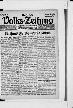 Berliner Volkszeitung vom 10.01.1918