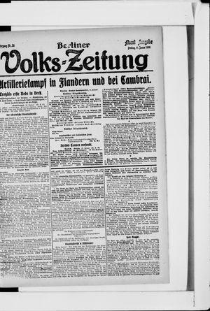 Berliner Volkszeitung vom 11.01.1918