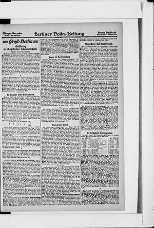 Berliner Volkszeitung vom 12.01.1918