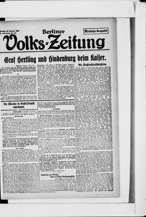 Berliner Volkszeitung vom 14.01.1918
