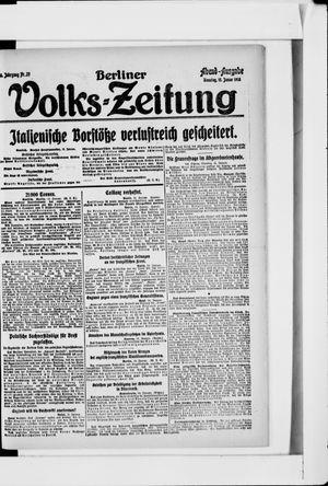 Berliner Volkszeitung vom 15.01.1918