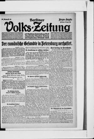 Berliner Volkszeitung vom 16.01.1918
