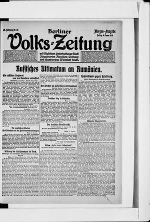 Berliner Volkszeitung vom 18.01.1918
