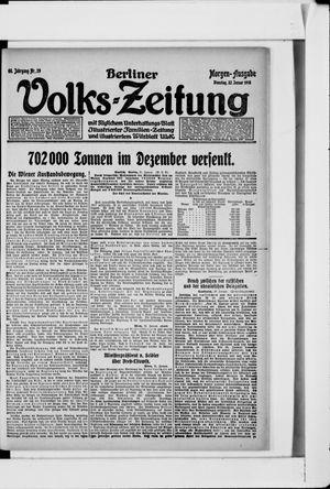 Berliner Volkszeitung vom 22.01.1918