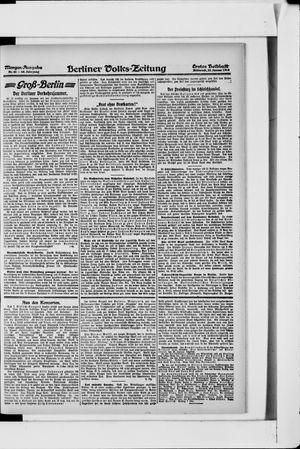 Berliner Volkszeitung vom 23.01.1918