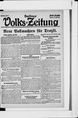 Berliner Volkszeitung vom 24.01.1918