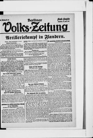 Berliner Volkszeitung vom 26.01.1918