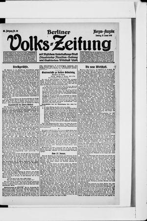 Berliner Volkszeitung vom 27.01.1918