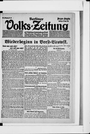 Berliner Volkszeitung vom 29.01.1918