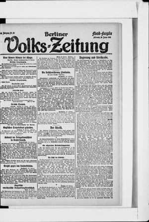 Berliner Volkszeitung vom 30.01.1918