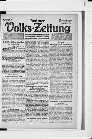 Berliner Volkszeitung vom 01.02.1918