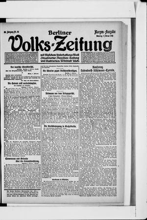 Berliner Volkszeitung vom 05.02.1918