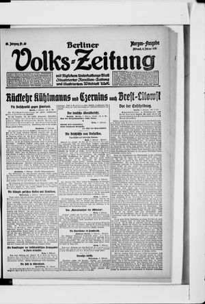 Berliner Volkszeitung vom 06.02.1918