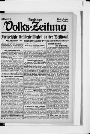 Berliner Volkszeitung vom 07.02.1918