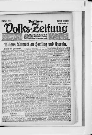 Berliner Volkszeitung vom 13.02.1918