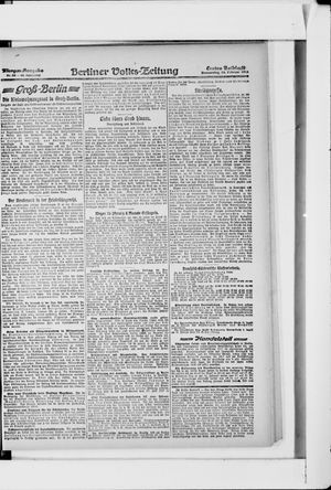 Berliner Volkszeitung on Feb 14, 1918