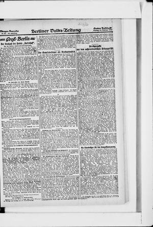 Berliner Volkszeitung vom 15.02.1918