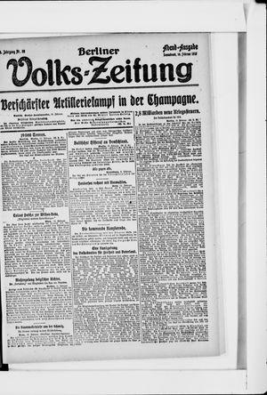 Berliner Volkszeitung vom 16.02.1918