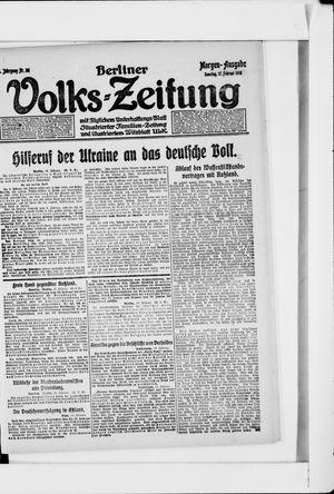 Berliner Volkszeitung vom 17.02.1918