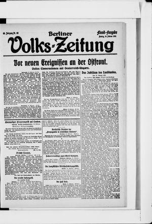 Berliner Volkszeitung vom 18.02.1918