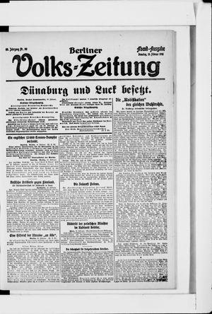 Berliner Volkszeitung vom 19.02.1918